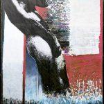 Ammar Bouras. lettre d'amour 3. T. M. sur toile