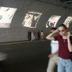 Ammar Bouras. Répliques. Installation urbaine, Tunnel des Facultés, Alger, mise en espace. Alger.