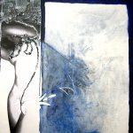 Ammar Bouras. Les 1001 nuits, autrement dit... chahr@zed_1, 120x120 cm, TM sur bois, 2006