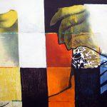 Ammar Bouras. Les 1001 nuits, autrement dit... Dounyazed, 180x90 cm, TM sur toile, 2002/2006