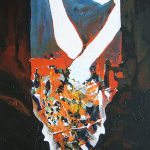 Ammar Bouras. Les 1001 nuits, autrement dit... fenêtre_connecte, (âachak attaka), 60x110 cm, TM sur bois, 200
