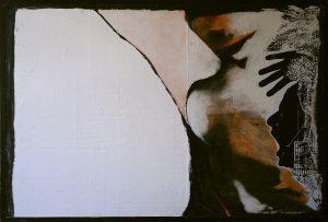Jeux interdits. 62,5x95CM. T. M. (collage et peintures).
