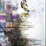Ammar Bouras. Lettre d'amour 2. T. M. sur toile