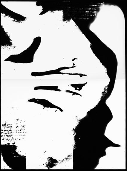 Ammar Bouras. Une autorisation pour s'aimer 2. Tirage unique sur papier photo N&b (A3) en planche contact