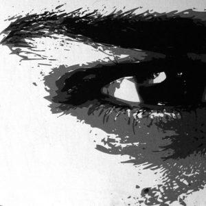 Ammar Bouras. Les 1001 nuits, autrement dit... voyeur virtuel, 81x108 cm, TM sur toile, 2006